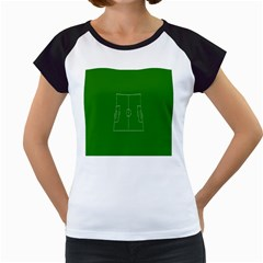 Soccer Field Football Sport Green Women s Cap Sleeve T by Alisyart