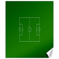 Soccer Field Football Sport Green Canvas 8  X 10  by Alisyart