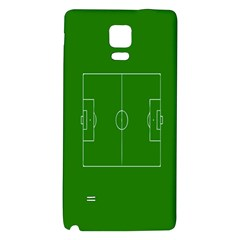 Soccer Field Football Sport Green Galaxy Note 4 Back Case by Alisyart
