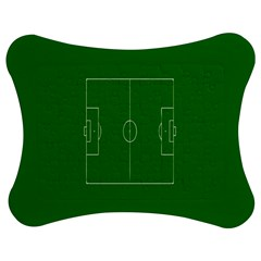 Soccer Field Football Sport Green Jigsaw Puzzle Photo Stand (bow) by Alisyart
