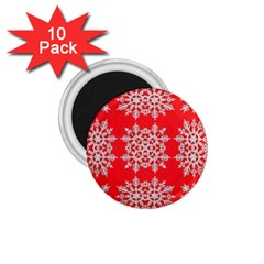 Background For Scrapbooking Or Other Stylized Snowflakes 1 75  Magnets (10 Pack)