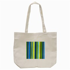 Simple Lines Rainbow Color Blue Green Yellow Black Tote Bag (cream)