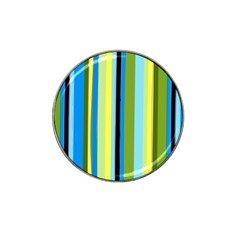 Simple Lines Rainbow Color Blue Green Yellow Black Hat Clip Ball Marker