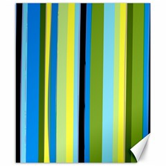 Simple Lines Rainbow Color Blue Green Yellow Black Canvas 8  X 10  by Alisyart