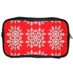 Background For Scrapbooking Or Other Stylized Snowflakes Toiletries Bags 2 Side by Nexatart
