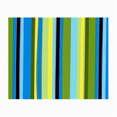 Simple Lines Rainbow Color Blue Green Yellow Black Small Glasses Cloth (2 Side)