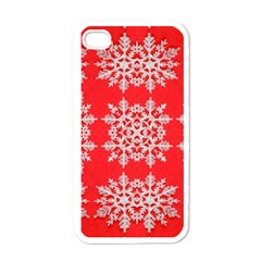 Background For Scrapbooking Or Other Stylized Snowflakes Apple Iphone 4 Case (white)