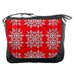 Background For Scrapbooking Or Other Stylized Snowflakes Messenger Bags