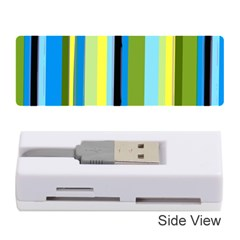 Simple Lines Rainbow Color Blue Green Yellow Black Memory Card Reader (stick)