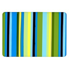Simple Lines Rainbow Color Blue Green Yellow Black Samsung Galaxy Tab 8 9  P7300 Flip Case
