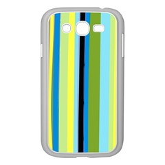 Simple Lines Rainbow Color Blue Green Yellow Black Samsung Galaxy Grand Duos I9082 Case (white) by Alisyart