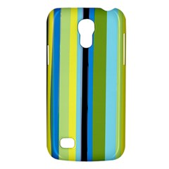 Simple Lines Rainbow Color Blue Green Yellow Black Galaxy S4 Mini