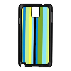 Simple Lines Rainbow Color Blue Green Yellow Black Samsung Galaxy Note 3 N9005 Case (black)