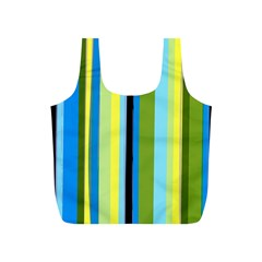 Simple Lines Rainbow Color Blue Green Yellow Black Full Print Recycle Bags (s)  by Alisyart