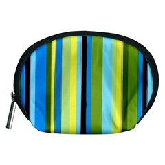 Simple Lines Rainbow Color Blue Green Yellow Black Accessory Pouches (medium)