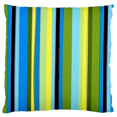Simple Lines Rainbow Color Blue Green Yellow Black Standard Flano Cushion Case (one Side)