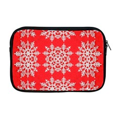 Background For Scrapbooking Or Other Stylized Snowflakes Apple Macbook Pro 17  Zipper Case by Nexatart
