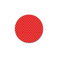 Red Skull Bone Texture Golf Ball Marker (10 Pack) by Alisyart