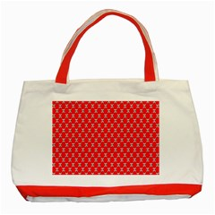 Red Skull Bone Texture Classic Tote Bag (red)