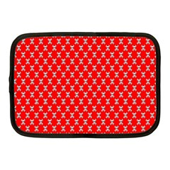 Red Skull Bone Texture Netbook Case (medium)
