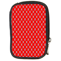 Red Skull Bone Texture Compact Camera Cases by Alisyart