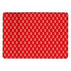 Red Skull Bone Texture Samsung Galaxy Tab 10 1  P7500 Flip Case