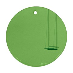 Swing Children Green Kids Ornament (round)