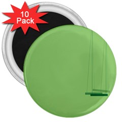 Swing Children Green Kids 3  Magnets (10 Pack)