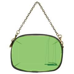 Swing Children Green Kids Chain Purses (two Sides)