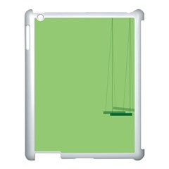 Swing Children Green Kids Apple Ipad 3/4 Case (white)