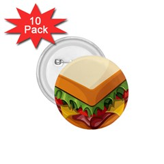 Sandwich Breat Chees 1 75  Buttons (10 Pack)