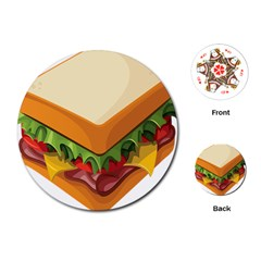 Sandwich Breat Chees Playing Cards (round)
