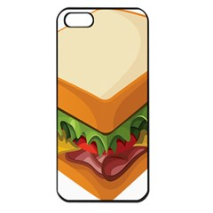 Sandwich Breat Chees Apple Iphone 5 Seamless Case (black)