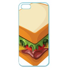 Sandwich Breat Chees Apple Seamless Iphone 5 Case (color)