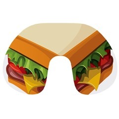 Sandwich Breat Chees Travel Neck Pillows