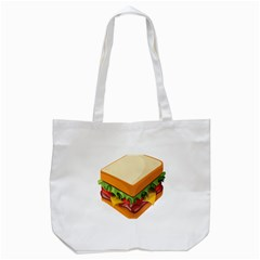 Sandwich Breat Chees Tote Bag (white)