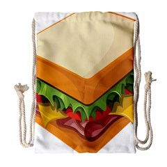 Sandwich Breat Chees Drawstring Bag (large)