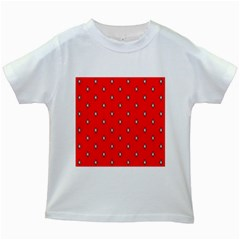 Simple Red Star Light Flower Floral Kids White T Shirts