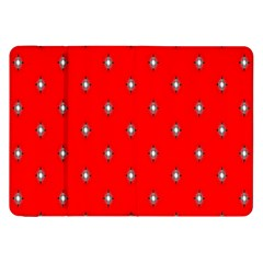 Simple Red Star Light Flower Floral Samsung Galaxy Tab 8 9  P7300 Flip Case