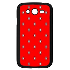 Simple Red Star Light Flower Floral Samsung Galaxy Grand Duos I9082 Case (black)