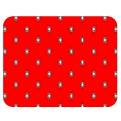 Simple Red Star Light Flower Floral Double Sided Flano Blanket (medium)