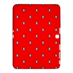 Simple Red Star Light Flower Floral Samsung Galaxy Tab 4 (10 1 ) Hardshell Case  by Alisyart
