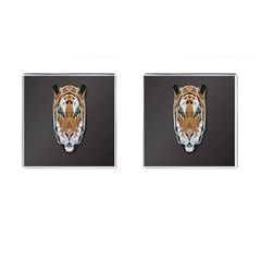 Tiger Face Animals Wild Cufflinks (square) by Alisyart