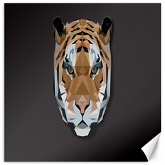 Tiger Face Animals Wild Canvas 20  X 20