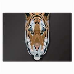 Tiger Face Animals Wild Large Glasses Cloth (2 Side)