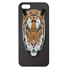 Tiger Face Animals Wild Apple Iphone 5 Seamless Case (black)