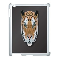 Tiger Face Animals Wild Apple Ipad 3/4 Case (white)
