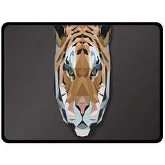 Tiger Face Animals Wild Double Sided Fleece Blanket (large)