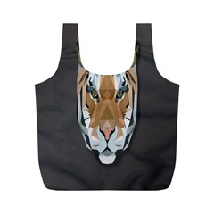 Tiger Face Animals Wild Full Print Recycle Bags (m)