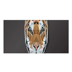 Tiger Face Animals Wild Satin Shawl